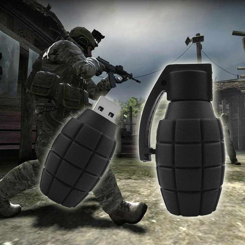 Hand Grenade Shaped USB Flash Drive 2.0 Rubber Bomb Memory Stick 16/32/64gb