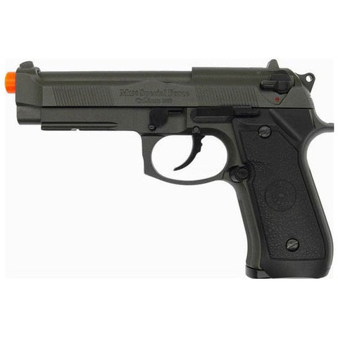 HFC Full Auto M9 Baretta Metal Gas Blowback Airsoft Pistol W/ Gun Case