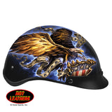 Hot Leathers D.O.T. USA Eagle Glossy Motorcycle Helmet S2G slash2gash.com