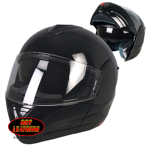 Hot Leathers D.O.T. Convertible Full Face Helmet w/ Sun Shield