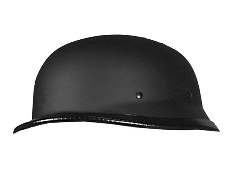 Hot Leathers German Style Matte Black Low Profile Novelty Helmet Dull