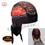 Hot Leathers Skull Made Of Skulls Headwrap Premium Motorcycle Durag