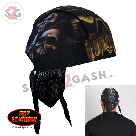 Hot Leathers Skull Cavern Headwrap Premium Motorcycle Durag