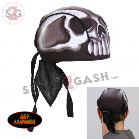 Hot Leathers Skull Head Premium Headwrap Motorcycle Durag