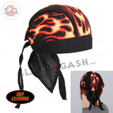 Hot Leathers Flames Headwrap Premium Motorcycle Durag