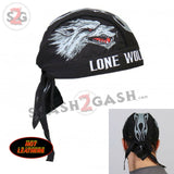 Hot Leathers Lone Wolf Headwrap Premium Motorcycle Durag - No Club