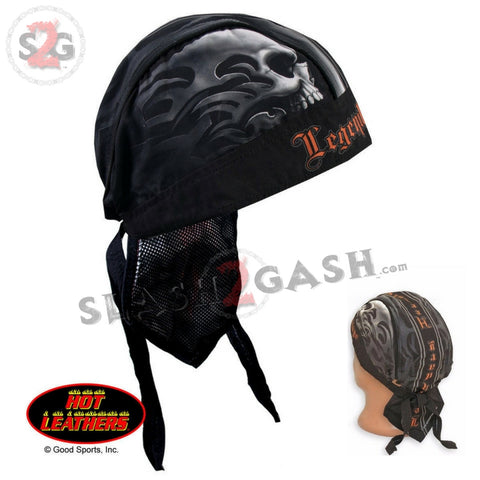 Hot Leathers Legendary Heritage Headwrap Tribal Skull Premium Du-Rag Doo Rag Cap
