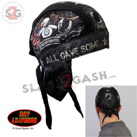 Hot Leathers All Gave Some Headwrap Premium POW Military Biker Du-Rag