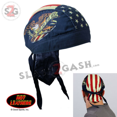 Hot Leathers Keep And Bear Arms Headwrap Premium Biker Du-Rag