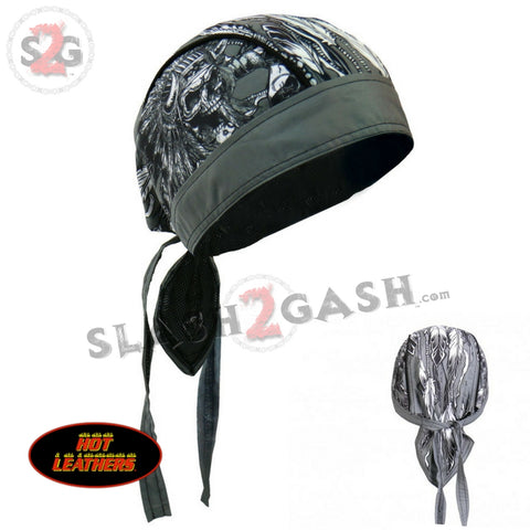 Hot Leathers Indian Chief Premium Headwrap Skull Headdress Biker Du-Rag