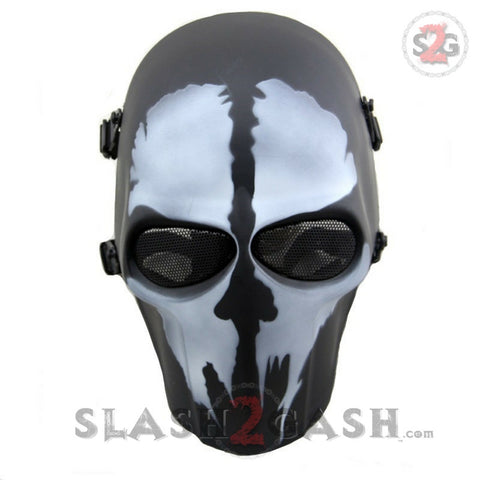7colors Good Spine Tingler Skeleton Mask Abs Plastic Full Face Airsoft Paintball Cs Mask Halloween Cosplay Skull Scary Mask Back To Search Resultshome