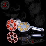 Six Shooter Rotating Revolver Smoking Bullet Metal Pipe With Grinder