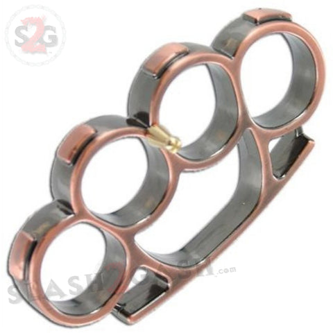 Iron Fist Knuckleduster Heavy Duty Buckle Paperweight - Copper Brass Knuckles