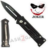 Mini Joker Automatic Knife California Legal Switchblade - Black