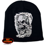 Hot Leathers Assassin Knit Cap Embroidered Skull & Pistols Beanie
