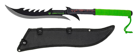 "28"" Corpse Slicer Two Handed Zombie Machete w/ Sheath"