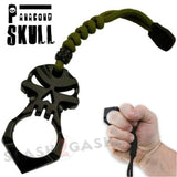 One Finger Punisher Skull Knuckle Paracord Self Defense Keychain - Black Jabber