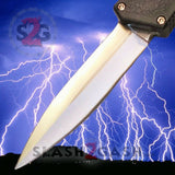 Taiwan Lightning OTF Dual Action Black Automatic Knife - Satin Double Edge