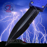 Lightning OTF Dual Action Blue Automatic Knife - Tactical Combo Edge