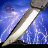 Lightning OTF Dual Action Grey Automatic Knife - Satin Plain Edge