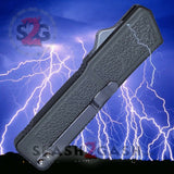 Taiwan Lightning OTF Dual Action Grey Automatic Knife - Tactical Double Edge