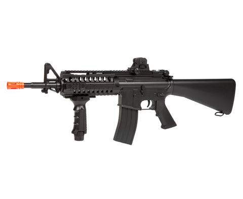 WELL D4816 M4 S-System Electric Airsoft Rifle Full Auto AEG Gun - Hybrid Gearbox, Metal & Plastic Gears