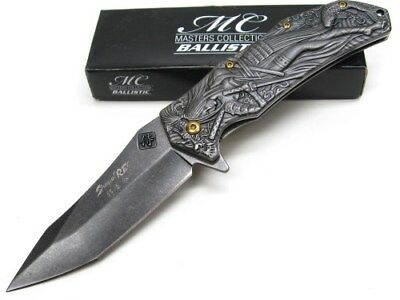 Samurai Woman 3D Fantasy Knife A/O with Koi Fish - Stone Washed MC-A035SW Shogun Rey