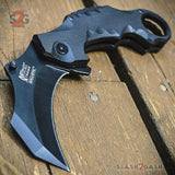 Black G10 Karambit Claw Spring Assisted Folding Knife Combat Tactical 8""