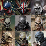 Silver Iron Tactical Mask Airsoft Wargame Paintball Motorcycle Halloween Full Face Skull