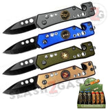 ARMED FORCES Mini Rescue Automatic Knife California Legal small Military Switchblade - w/ cutter and breaker