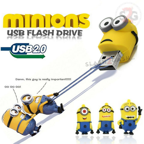 MINIONS Despicable Me USB Flash Drive 2.0 Kevin, Stuart, Bob - 16gb