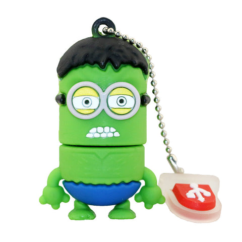 Super Hero MINIONS Despicable Me USB Flash Drive 2.0 Hulk Hulkminion- 16gb