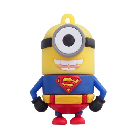 Super Hero MINIONS Despicable Me USB Flash Drive 2.0 Superman Superminion - 32gb
