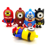 SuperHero MINIONS Despicable Me USB Flash Drive 2.0 Batman Superman Hulk - 16gb