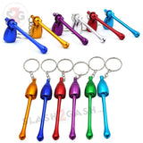 Mushroom Keychain Pipe Smoking Bowl Convertible Hidden tobacco Key Chain - Slash2Gash S2G