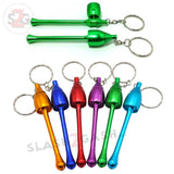 Mushroom Keychain Pipe Smoking Bowl Convertible Hidden tobacco Key Chain -