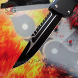 Delta Force Dark Knight 440C OTF Automatic Knife CNC Highest Quality - Interceptor Black Switchblade Slash2Gash S2G