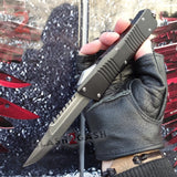 Delta Force Dark Knight 440C OTF Knife CNC Highest Quality - Interceptor Stonewashed Switchblade
