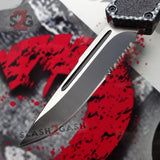 Delta Force Carbon Fiber Scarab D/A OTF Automatic Knife - Drop Point Serrated Switchblade