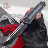 Delta Force Carbon Fiber Scarab D/A OTF Automatic Knife - Satin Tanto Plain