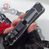 Delta Force Carbon Fiber Scarab D/A OTF Automatic Knife - Satin Tanto Plain Switchblade