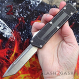 Delta Force Classic Black Scarab D/A OTF Automatic Knife CNC Highest Quality - Satin Tanto Switchblade Slash2Gash S2G