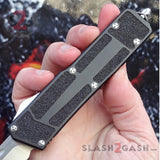 Delta Force Classic Black Scarab D/A OTF Automatic Knife CNC Highest Quality - Satin Tanto Switchblade