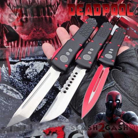 S2G Slash2Gash Deadpool OTF Knife Delta Force Switchblade Black Red Automatic CNC Highest Quality