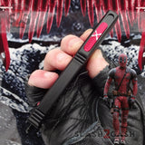 Deadpool OTF Knife Automatic Switchblade CNC Highest Quality Delta Force Black Red - Tanto Satin Slash2Gash S2G