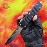 Delta Force Dark Knight VG-10 OTF Automatic Knife CNC Highest Quality - Drop Point Switchblade