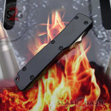 """TheONE"" Mini OTF Dual Action Automatic Knife Black - Tanto 440c"