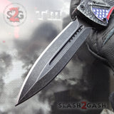 Delta Force Stonewashed OTF Automatic Knife - Lady Liberty Statue USA Patriotic Switchblade