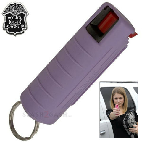 Pepper Spray 1/2 Ounce OC-17 with Clip and Keychain - Lavender