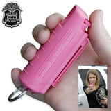 Pepper Spray 1/2 Ounce OC-17 with Clip and Keychain - Hot Pink